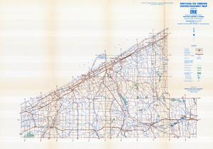 1958, Erie County Map, Pennsylvania, United States