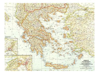 1958 Greece and the Aegean Map-National Geographic Maps-Art Print