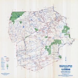 1958, Luzerne County Map, Pennsylvania, United States