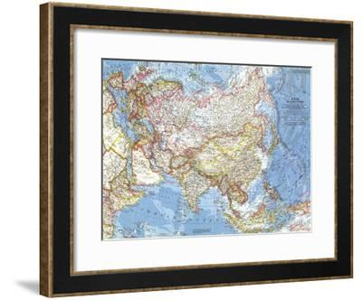 1959 Asia and Adjacent Areas Map-National Geographic Maps-Framed Art Print