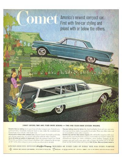 1960 Mercury-Comet Compact Car--Art Print