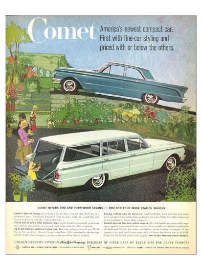 1960 Mercury-Comet Compact Car--Art Print