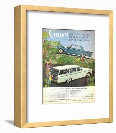 1960 Mercury-Comet Compact Car--Framed Art Print