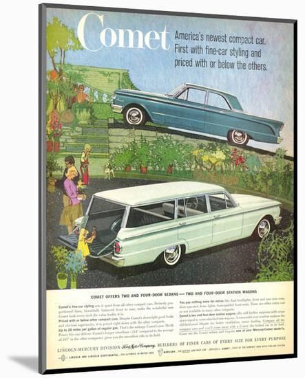 1960 Mercury-Comet Compact Car--Mounted Art Print