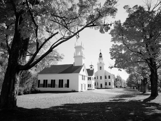 1960s Church and Local Buildings in the Town Square of Washington New Hampshire--Photographic Print