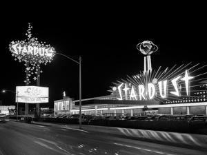 1960s Night Scene of the Stardust Casino Las Vegas,, Nevada