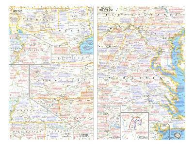 1961 Battlefields of the Civil War Theme-National Geographic Maps-Art Print