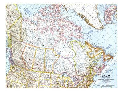 1961 Canada Map-National Geographic Maps-Art Print