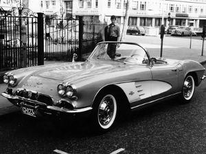 1961 Chevrolet Corvette on a Parking Meter, (C1961)