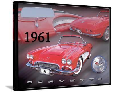 1961 Corvette--Stretched Canvas Print