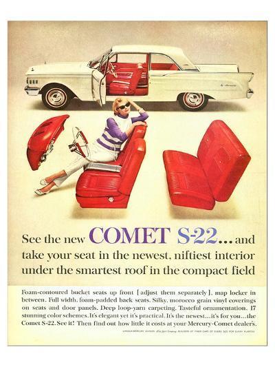 1961 Mercury-New Comet S-22--Art Print