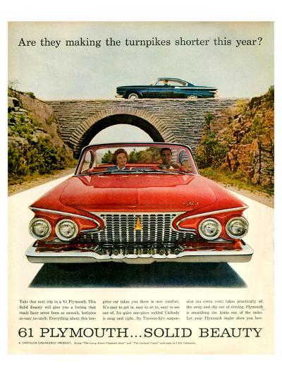 1961 Plymouth-Turnpike Shorter--Art Print