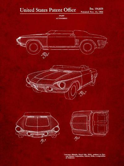 1962 Chevrolet Covair Super Spyder Concept Patent Print-Cole Borders-Art Print