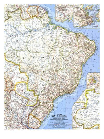 1962 Eastern South America Map-National Geographic Maps-Art Print