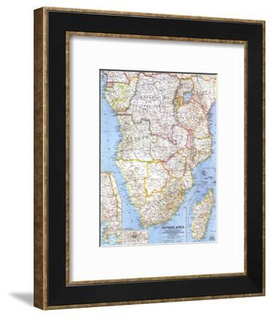 1962 Southern Africa Map-National Geographic Maps-Framed Art Print