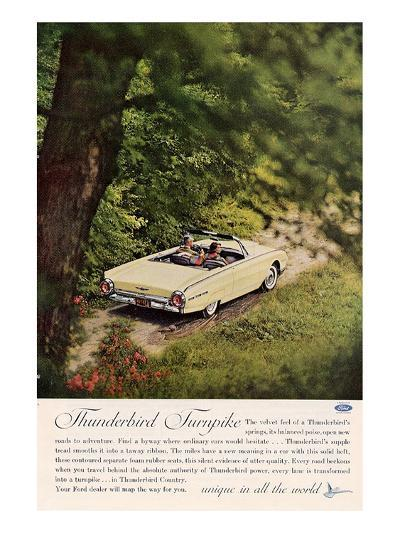 1962 Thunderbird Turnpike--Art Print