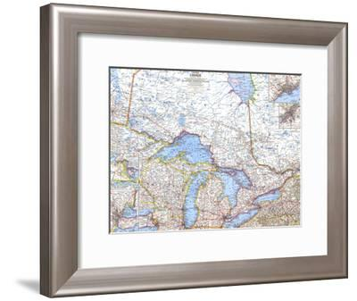 1963 Central Canada-National Geographic Maps-Framed Art Print