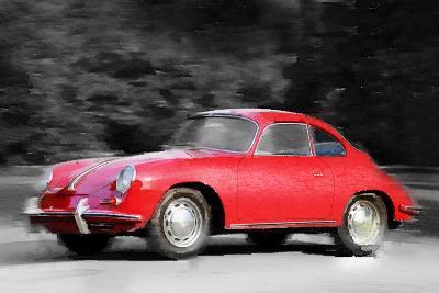 1963 Porsche 356 C Watercolor-NaxArt-Art Print