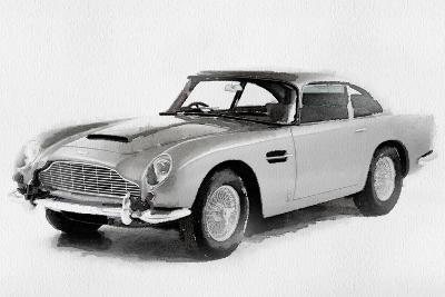 1964 Aston Martin DB5 Watercolor-NaxArt-Art Print