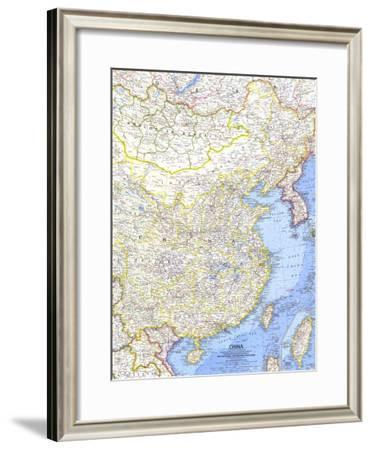 1964 China Map-National Geographic Maps-Framed Art Print
