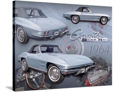1964 Corvette--Stretched Canvas Print