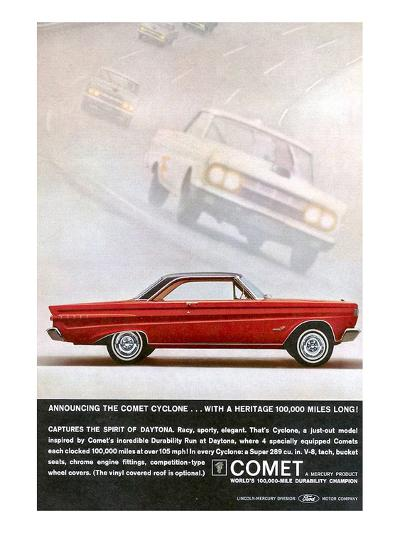 1964 Mercury - Comet Cyclone--Art Print