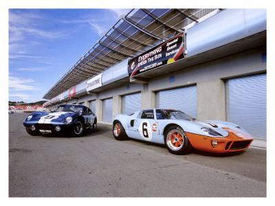 1964 Shelby Daytona Coupe & 1969 Ford GT-40-David Newhardt-Giclee Print