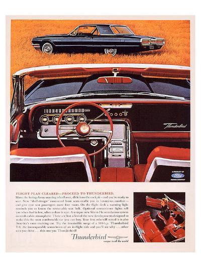1964 Thunderbird - Flight Plan--Art Print