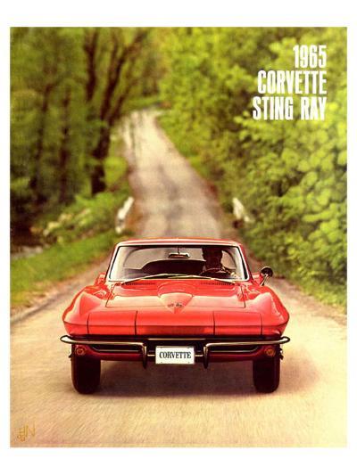1965 GM Corvette Sting Ray--Art Print