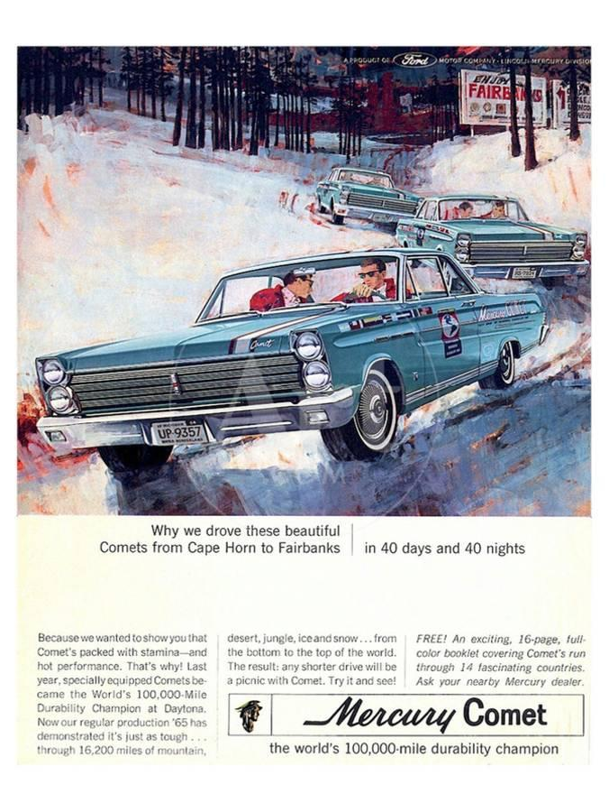 1965 Mercury Comets Fairbanks Art Print by | Art com