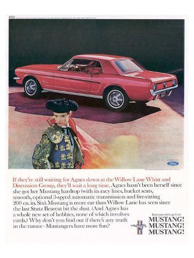 1965 Mustang-Agnes Not Herself--Art Print
