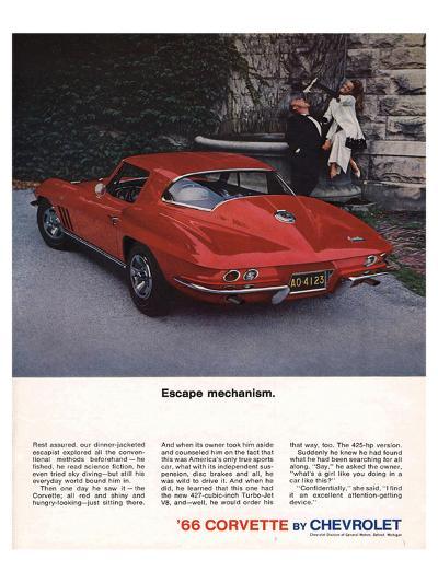 1966 Corvette Escape Mechanism--Art Print