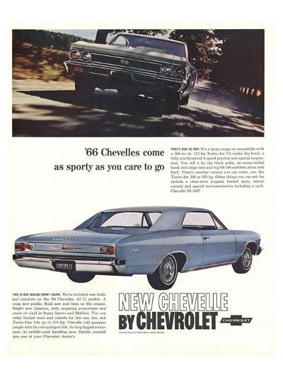 1966 GM Chevrolet Chevelles--Art Print