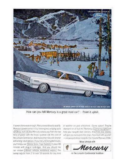 1966 Mercury - Point it Uphill--Art Print