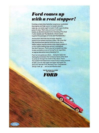1966 Mustang - a Real Stopper--Art Print