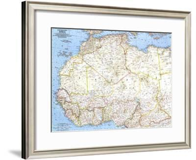 1966 Northwestern Africa Map-National Geographic Maps-Framed Art Print