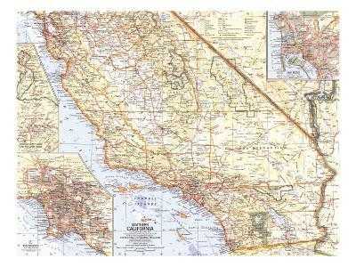 1966 Southern California Map-National Geographic Maps-Art Print