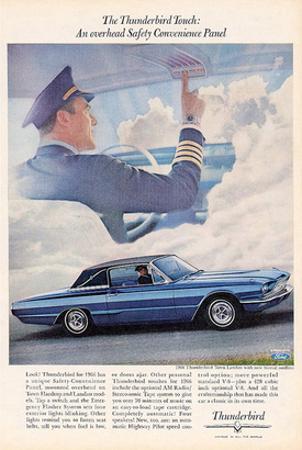 1966 Thunderbird Safety Panel