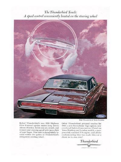 1966 Thunderbird Speed Control--Art Print