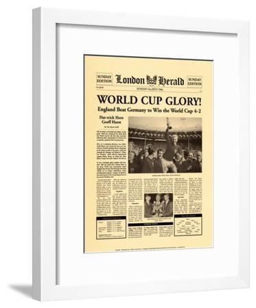 1966 World Cup-The Vintage Collection-Framed Art Print