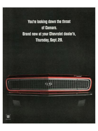 1967 Chevrolet Camaro: Throat--Art Print