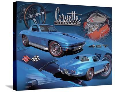 1967 Corvette--Stretched Canvas Print