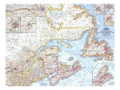 1967 Eastern Canada Map-National Geographic Maps-Art Print