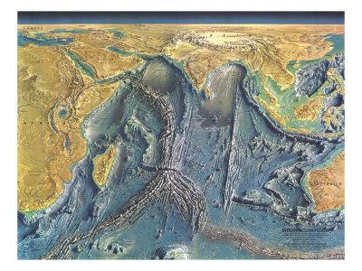 1967 Indian Ocean Floor Map-National Geographic Maps-Art Print