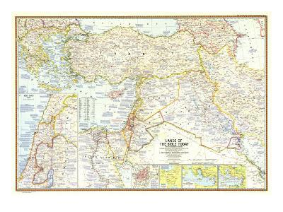 1967 Lands of the Bible Today Map-National Geographic Maps-Art Print