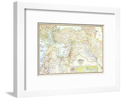 1967 Lands of the Bible Today Map-National Geographic Maps-Framed Art Print