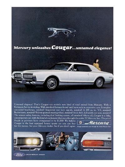 1967 Mercury Unleashes Cougar--Art Print