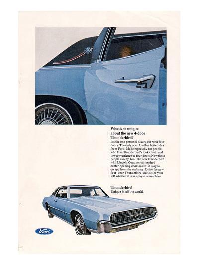 1967 Thunderbird New 4-Door--Art Print