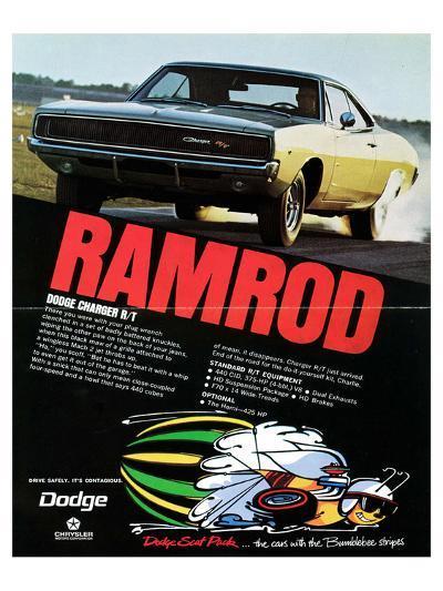 1968 Dodge Charger Ramrod--Art Print
