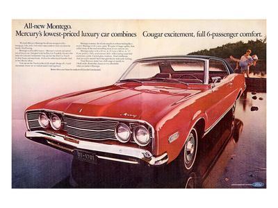 1968 Mercury - Cougar Montego--Art Print